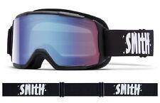 MASCHERA DA SCI SNOWBOARD SMITH DAREDEVIL NERO S1 BLUE SENSOR MIRROR Ski Goggles