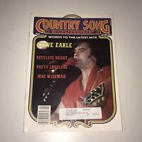 Country Song Roundup Magazine Steve Earle Patty Loveless Vintage August 1987