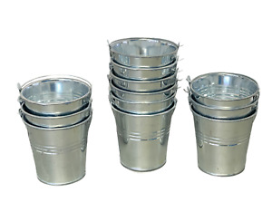 12pcs Galvanized Zinc Metal Bucket Tin Pot Garden Planter Herb Flower 7cm x 7cm