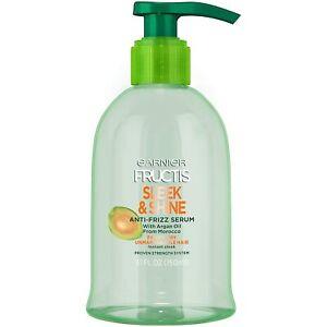 Garnier Fructis Sleek & Shine Anti-Frizz Serum, Frizzy, Dry, Unmanageable Hair,