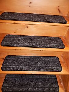 """13 STEP Indoor  Stair Treads Staircase 9"""" x 30""""  Carpet soft backing."""
