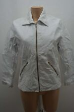 VESTE JACKET CUIR NAF NAF 36 38 S BLANC LEATHER