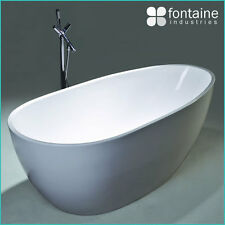 1700 Freestanding Bath Bathtub White Natural Modern Round NEW