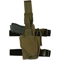 RIGHT HAND Tactical Light / Laser Leg Thigh Gun Holster - Coyote Desert TAN
