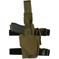 LEFT HAND Tactical Light / Laser Leg Thigh Gun Holster - Coyote Desert TAN