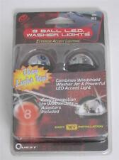 NEW PAIR CHROME 8 BALL UNIVERSAL RED LED LIGHT WINDSHIELD WASHER NOZZLES