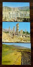 Ruins Greek Temple of Aphrodite in Aphrodisias, Geyre, Turkey 3 Color Postcards