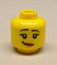 x1 NEW Lego Minifig Head Girl Female w/ Crooked Smile & Pale Flesh Lipstick