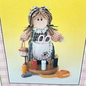 Spinning Sally Rag Doll Sewing Organizer Storage Caddy Pin Cushion Spool Rack