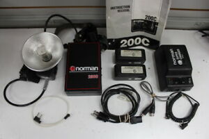 Norman NMA200C LH2K head, 2 B4124 Batteries, Super Charger, 2D Reflector 810797