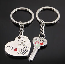 New Valentine's Day His And Hers I LOVE YOU Couple Keychain Keyring Lover Gift