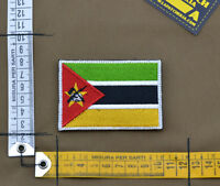 "Ricamata / Embroidered Patch ""Mozambique Flag"" with VELCRO® brand hook"