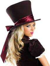 Fun Victorian Era Mad Hatter Steampunk Inspired Ribbon Hat Accessory Adult Women