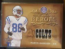 2002 Leaf Rookies & Stars #GAH-7 Great American Heroes Marvin Harrison 1862/2000