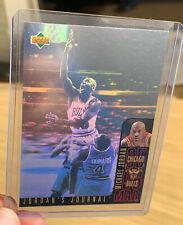 Michael Jordan 1995-96 Upper Deck Jordan's Journal Hologram Bulls insert