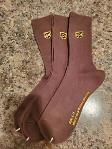 UPS Crew Socks United Parcel Service Medium  8-10 Three Pairs