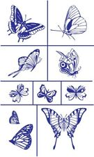 Armour Rub 'n' Etch Glass Etching Stencil Set ~ Butterflies 2