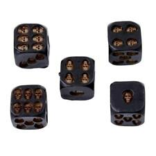 5x Dice with Death Skull Dice Gothic Fantasy Game Gift 3D Skull Table Games BS