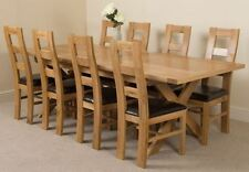 Oak Up to 8 Seats Table & Chair Sets with Extending