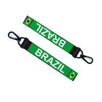 Brazil Key Chain Keyring Luggage Tag Zipper Pull Bag Brasil Key Ring