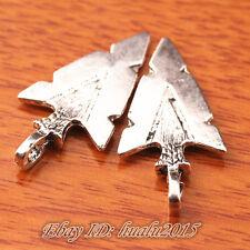 10pcs 31*16mm Charms Arrows Arrow head Pendants Tibetan Silver Jewelry H7455