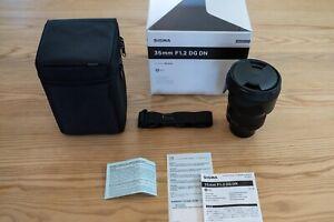 Sigma 35mm F1.2 Art DG DN Lens for Sony E full frame mirrorless MINT w box pape