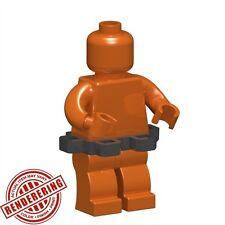 Custom UTILITY BELT for Lego Minifigures Military Pistol Knife Holder -Steel-