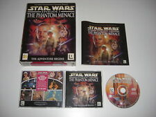 Star Wars episodio 1 La Amenaza Fantasma PC CD ROM Original Caja Grande-Rápido Post
