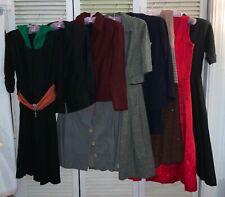 Lot Of 9 Vintage 1940s 1950s Women's Dresses Suits Suit Coats Issues Lot