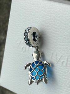 Authentic GENUINE PANDORA Ocean Murano Glass Sea Turtle Charm 798939C01