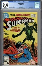 Superman #1 CGC 9.4 NM Origin & 1st Appearance of New Metallo WHITE PAGES