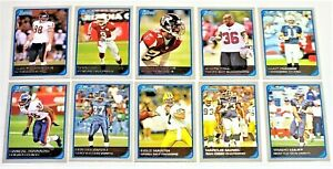 LOT OF 10 2006 BOWMAN FOOTBALL CARDS