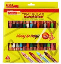Camel Triangular Oil Pastels - 30 Shades (Multicolor)