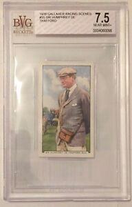 Sir Humphrey De Trafford 1938 Gallaher Racing Scenes Tobacco Card #35 - BVG 7.5