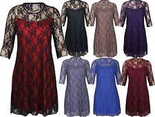 Nylon Floral 3/4 Sleeve Dresses for Women