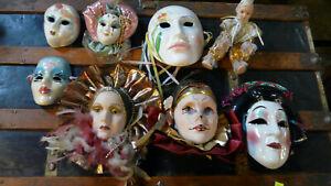 Porcelain Mask Masquerade Wall Decor Masquerade Ceramic 7 Face Collection + Doll