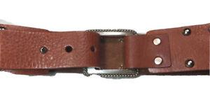 CALVIN KLEIN Leather Belt SZ S Metal Studs Pattern