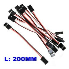 10x Length 20CM Male to Male JR Plug Servo Extension Wire Cable