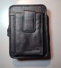 Larger BeltConceal Concealment Holster - Compact Pistol - Genuine Leather BLACK