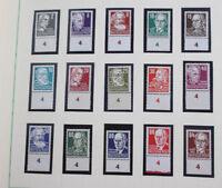 DDR 1949 bis 1976 Sammlung mit postfrischen Spitzen, Marx Blocks etc. 3 Alben