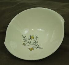 VTG Blue Ridge Pottery Golden Bells Palisades 7 Inch Bowl MCM Floral Minimalist