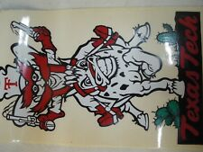 Vintage 1985 Texas Tech Raider Red Mascot Sticker Decal - Unused - TTU Sports