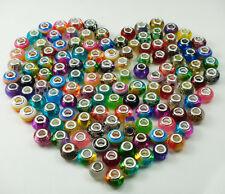 50pcs mix murano DIY Jewelry charm LAMPWORK bead fit European Bracelet gift a8