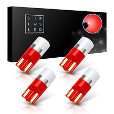 SiriusLed 4-Pack Bright Red 3030 Smd Led Bulb Dome Map or License Plate Fitment