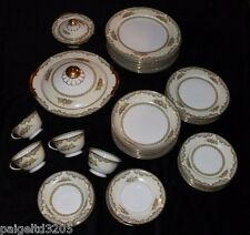 Vintage Noritake Pattern Martelle Fine China 49-Piece Dinnerware Set  #80464