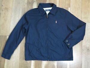 Polo Ralph Lauren Men's Blue Zip Lined Polyester Windbreaker Jacket Sz L