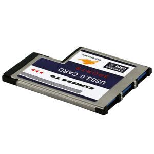 3 Ports USB 3.0 zu Expresscard 54mm Adapter Konverter für PCMCIA Express Card