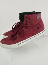 Nice! Supra Vaider Mens Canvas Lace Up Athletic Surf Skate Shoes Size 11 Maroon