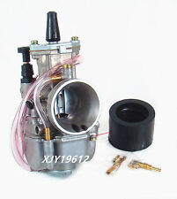 Racing Flat Side Carburetor W/ Intake Boot Needle Jet For Yamaha YZ80 YZ85