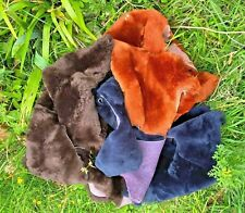 Sheepskin offcuts scraps crafting soft wool, natural off cuts Mixed color Merino